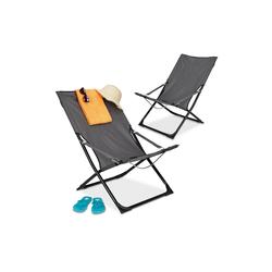 relaxdays Campingstuhl Liegestuhl klappbar 2er Set