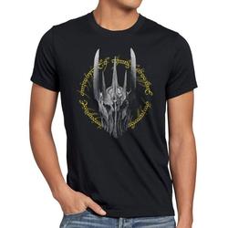 style3 Print-Shirt Herren T-Shirt Dunkle Ringe Der Lord Neuseeland Blu-Ray Triologie Herr Auenland S