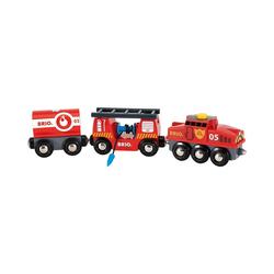 BRIO® Spielzeug-Eisenbahn Feuerwehr-Löschzug