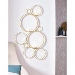 Leonique Wandkerzenhalter Kreise, Kerzen-Wandleuchter, Kerzenhalter, Kerzenleuchter hängend, Wanddeko, mit 3 Teelichthalter