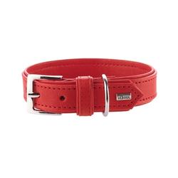 Hunter Hundehalsband Wallgau Leder, 55, rot, Leder