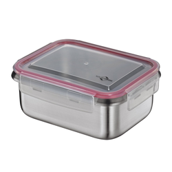 KÜCHENPROFI Lunchbox Brotdose aus Edelstahl 14 x 18,5 cm 1,0 Liter