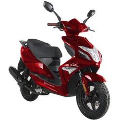 Alpha Motors Motorroller Falcon 50 ccm 45 kmh, weinrot