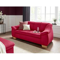 sit&more 2,5-Sitzer, mit Federkern rot