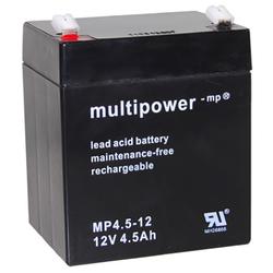 Blei-Akku Multipower MP4.5-12, 12 Volt, 4,5 Ah