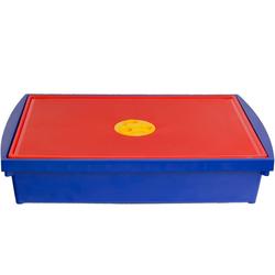 ONDIS24 Aufbewahrungsbox Aufbewahrungsbox mit Deckel, Spielzeugkiste 12L, Stapelbox System Box S, Malkiste flach, Spielzeugbox für Kinder
