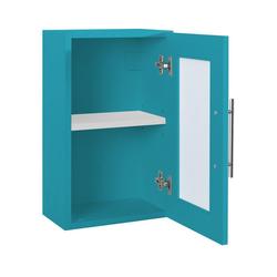 Badmöbel mit Glaseinsätzen blau ca. 50/31/20 cm