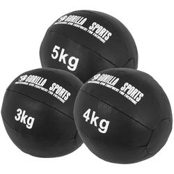 Medizinball Set aus Leder 12 kg