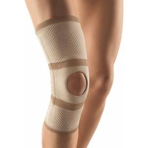 Bort Kniebandage Patella-Aussparung Knie Gelenk Bandage Stabiliserung Entlastung, hautfarben, XXXL Plus