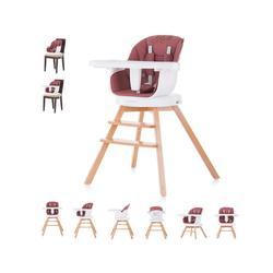 Chipolino Hochstuhl Hochstuhl 2 in 1 Rotto, Kinderstuhl, drehbarer Sitz, Höhe verstellbar rot