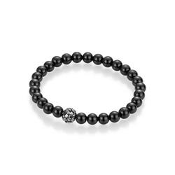 Firetti Armband Perlen aus Achat, mit Achat und Kristallsteinen schwarz