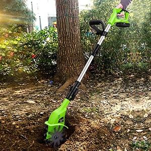 LIMEID 20V Motorhacke Mini-Bodenhacke Bodenkrümler Gartenhacke Kultivator mit 10cm Arbeitsbreite und leistungsstarkem 4000 mAH Li-Ion-Akku (Mini-Motorhacke)