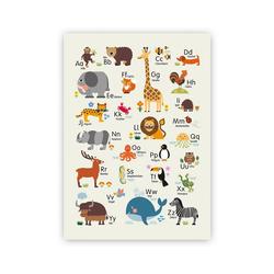 byGraziela Poster Poster Tier ABC, 50 x 70 cm natur