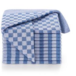 Blumtal Geschirrtuch Hochwertige Geschirrhandtücher, 100% Baumwolle, 50x70cm, (Set, 10-tlg., Set bestehend aus 5, 10 oder 20 Geschirrtücher) blau