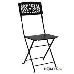 Klappbarer Stuhl aus Edelstahl h7483