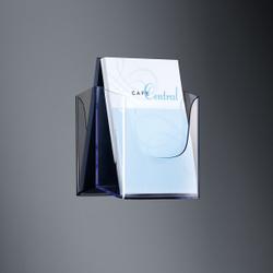 Sigel Wand-Prospekthalter acrylic, mit 1 Fach, Werbeaufsteller mit einem Fach für Inhalte, für A5