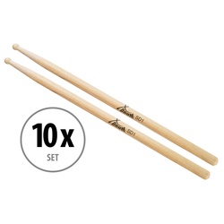 10 Paar XDrum Schlagzeug Sticks SD1 Wood Tip