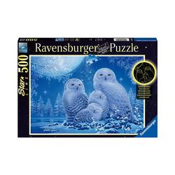 Ravensburger Puzzle Puzzle Eulen im Mondschein, 500 Teile, Puzzleteile