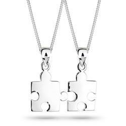 Elli Ketten-Set Partnerketten Puzzle 925 Sterling Silber