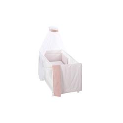 Alvi Bettset Raute in rosa/weiß in 100 x 135 cm