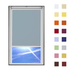 Dachfensterrollo guenstig nach Mass, Stoff Polyester, Farbe grau, mit Kassette oder als Springrollo, weitere 120 Farben im Shop