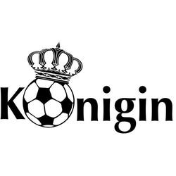 Wall-Art Wandtattoo Fußball Fußballkönigin (1 Stück) 140 cm x 75 cm x 0,1 cm