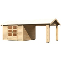 Woodfeeling Tastrup 7 Set 6,00 x 3,00 m natur inkl. Dachausbauelement