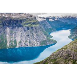 Fototapete Norwegian Fjord, glatt 5 m x 2,80 m