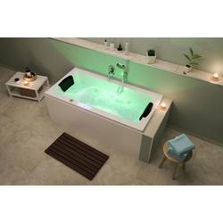 Emotion Whirlpool-Badewanne Unity 160 Whirlpool Set mit der Befüllung über den Überlauf