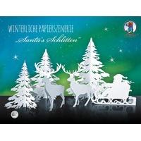 Ursus Winterliche Papierszenerie Santa's, Schlitten,