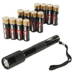Ansmann Alkaline X-Power Mignon AA, 12er-Pack + Taschenlampe