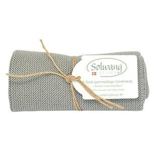 Solwang Handtuch gestrickt in Hellgrau H91