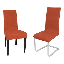 Stuhlhusse Venedig Stuhlhusse, elastische Stretch Husse Bi-Elastic Bi-Strech, Farbe wählbar, Beautex orange