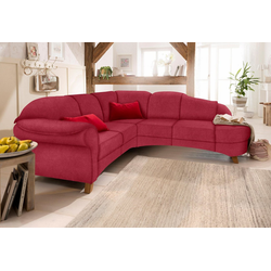 Home affaire Ecksofa Mayfair, mit Federkern rot