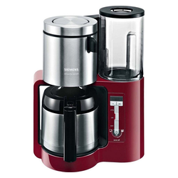 SIEMENS Filterkaffeemaschine Siemens TC86504 cranb red/sw Kaffeemas