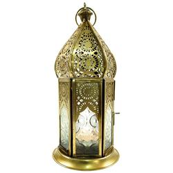 Guru-Shop Laterne Orientalische Metall/Glas Laterne in..