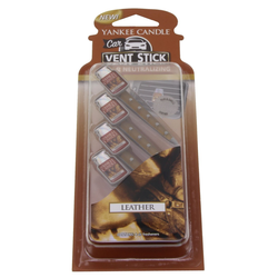 YANKEE CANDLE Car Vent Stick LEATHER Autoduft