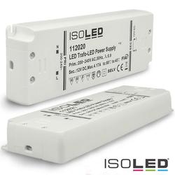 ISOLED LED Trafo 12V/DC, 0-50W, ultraflach, SELV ISO-112020