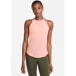 Nike Yogatop Yoga Tank Pointelle orange Damen Ärmellose Shirts Sweatshirts