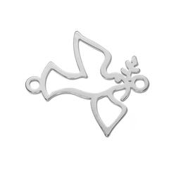 Adelia´s Kettenanhänger Schmuck Stein Anhänger - Friedenstaube - 925 Silber