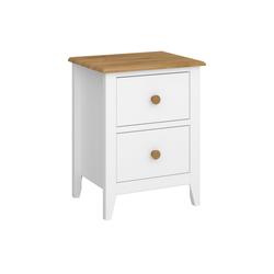 ebuy24 Nachttisch Heston Nachttisch mit 2 Schubladen weißer La