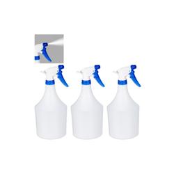relaxdays Sprühflasche 3 x Sprühflasche weiß-blau, 1 Liter