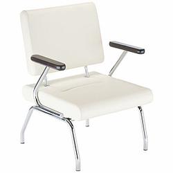 CONECT II Sessel mit 4-Fuß-Gestell und Armlehnen, Armauflagen aus Holz