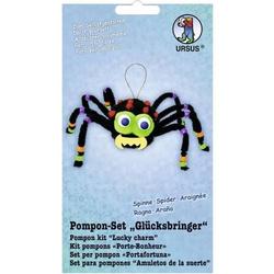 Bastelset Pompon-Set 'Glücksbringer Spinne'