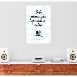 Posterlounge Wandbild, Nur wer träumt, kann fliegen (spanisch) 61 cm x 91 cm