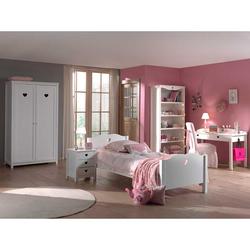 Komplett Mädchenzimmer in Weiß Herzchen (5-teilig)