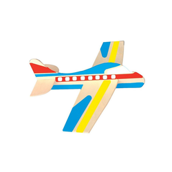 Playbox Holzbaukasten Holz-Modellflugzeuge zum Bemalen, 12 Stück