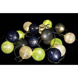 Guru-Shop LED-Lichterkette Stoff Ball Batterielichterkette 3xAA, LED Kugel..