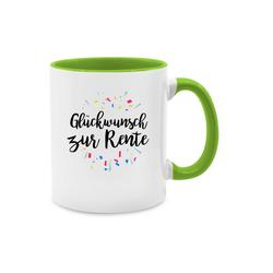 Shirtracer Tasse Glückwunsch zur Rente - Tasse Berufe - Tasse zweifarbig - Tassen, glückwunsch zur rente