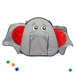 LittleTom Spielzelt Spielzelt Kinderzelt +Tunnel Bällebad Zelt indoor/ Kinderspielzelt inkl. Tasche